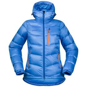 Bergans W's Memurutind Down Jacket Light Winter Sky/Athens Blue/Pumpkin